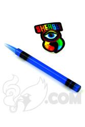 Sherbet Glass - Blue Glass Crayon Dabber