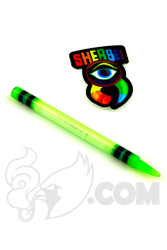 Sherbet Glass - Slyme Signed Glass Crayon Dabber