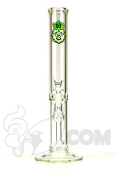 Manifest Glassworks - Stemless Straight with Cirq Perc and UV Green Lion