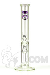 Manifest Glassworks - Stemless Straight with Cirq Perc and Purple Lion
