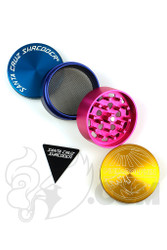 Santa Cruz Shredder x Pink Dolphin - 4 Piece Medium Gold Dolphin Grinder