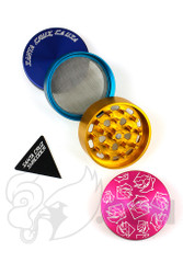 Santa Cruz Shredder x Pink Dolphin - 4 Piece Medium Pink Dolphin Grinder