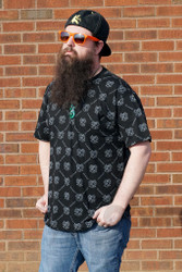 Illadelph - Black T-Shirt with All Over Print