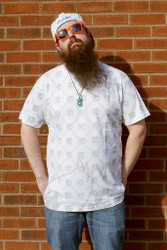 Illadelph - White T-Shirt with All Over Print