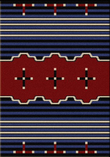 American Dakota Big Chief Blue Rug