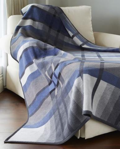 Buy Biederlack Thermosoft Sterling Blue Blanket Blankets Com