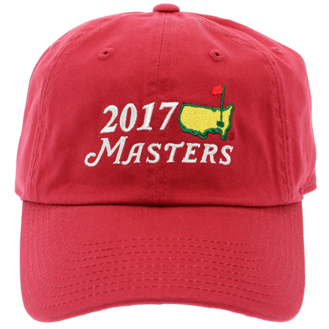 2017 Dated Masters Red Caddy Hat Big Logo