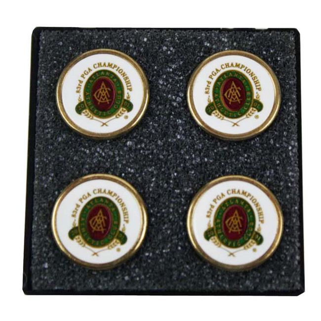 2001 PGA Championship Set of 4 Ball Markers