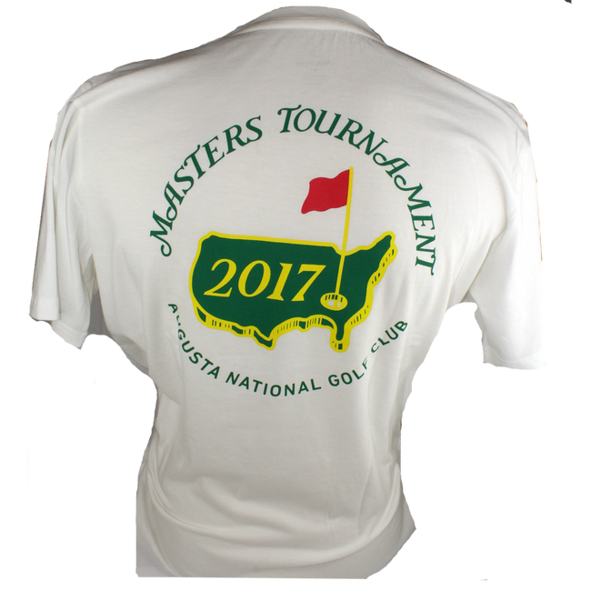 2017 Masters White Small Logo T-shirt