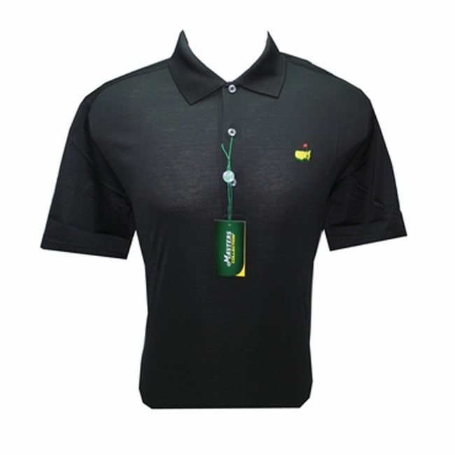 Masters Black Jersey Golf Shirt