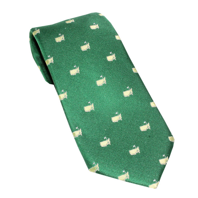 Masters Green With Gold Logos Tie
