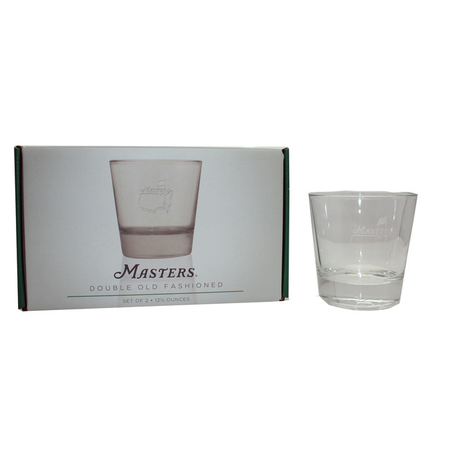 Masters Tournament Double Old Fashion Glasses Set of 2