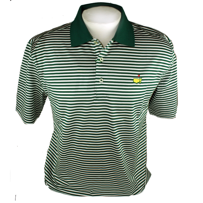 Masters Jersey Green & White Golf Shirt