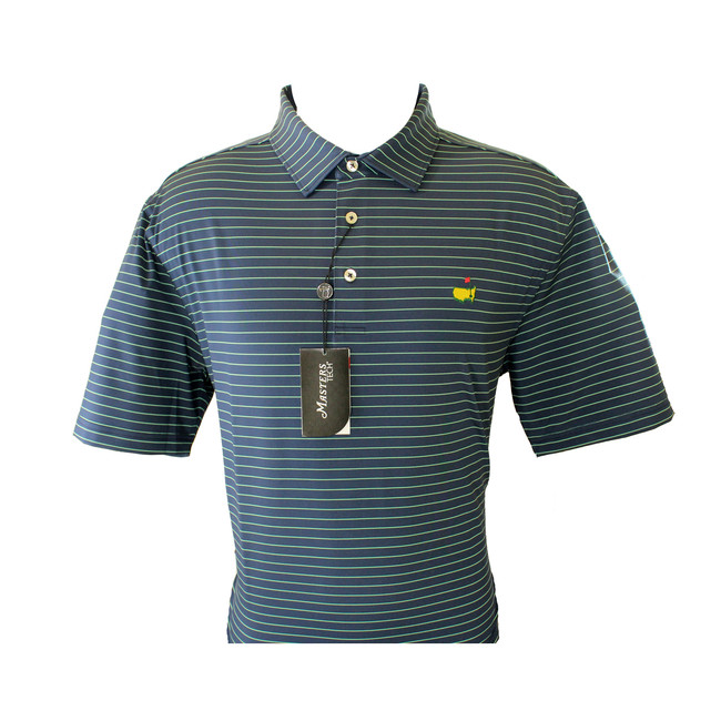 Masters Performance Tech Navy & Lime Golf Shirt