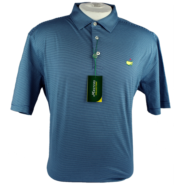 Masters Navy & Light Blue Jersey Golf Shirt