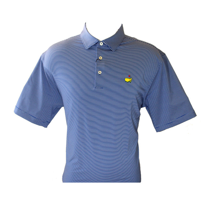 Masters Tech Navy/White Striped Golf Shirt