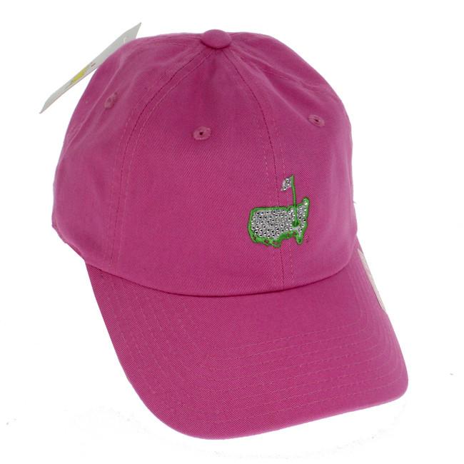 Masters Ladies Pink Caddy Hat - Rhinestone