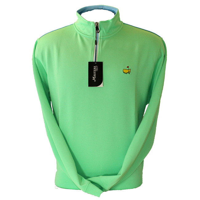 Masters Mint Green Tech Quarter Zip Pullover