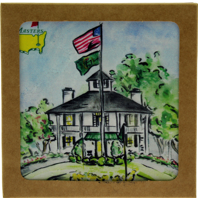 Masters Clubhouse Ceramic Coaster - Set of 2