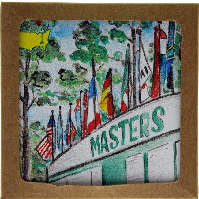 Masters Augusta National Scoreboard Ceramic Coaster - Set of 2