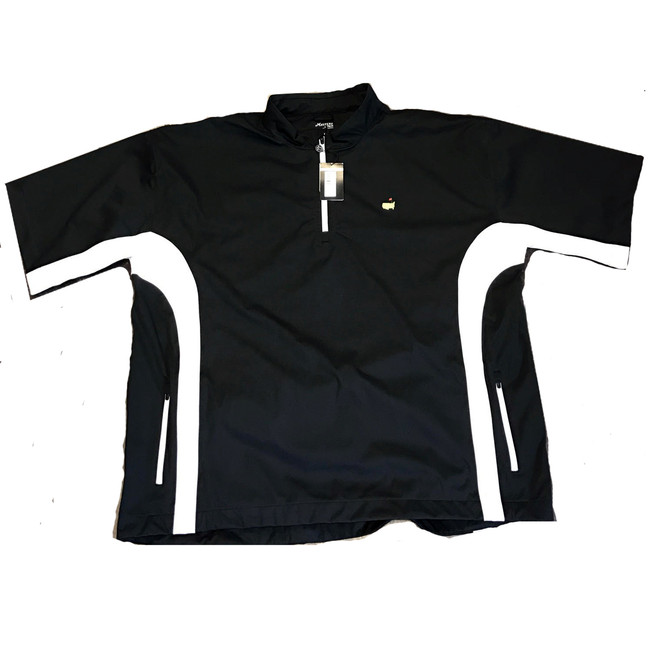 Masters Performance Tech Black & White Short Sleeve Wind Shirt