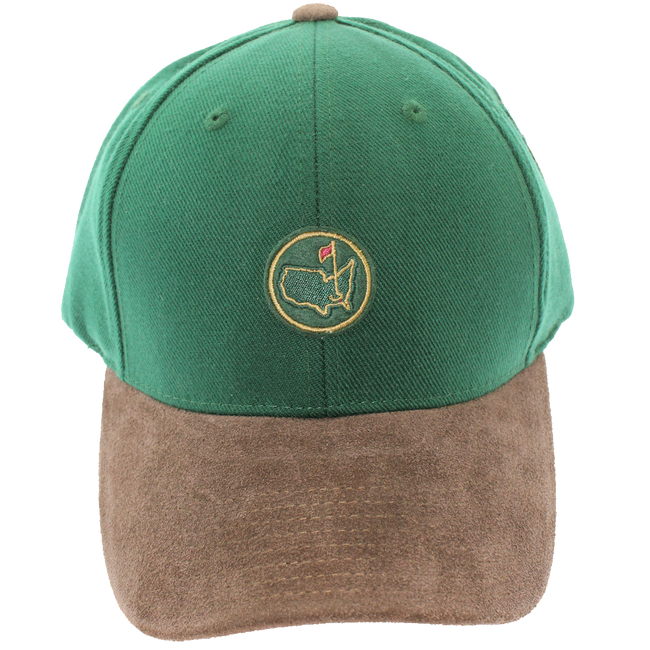 Berckmans Green Hat With Brown Bill - Leather Adjustable Strap