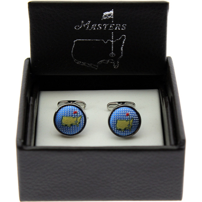 Masters Cuff Links - Carolina Blue Silk