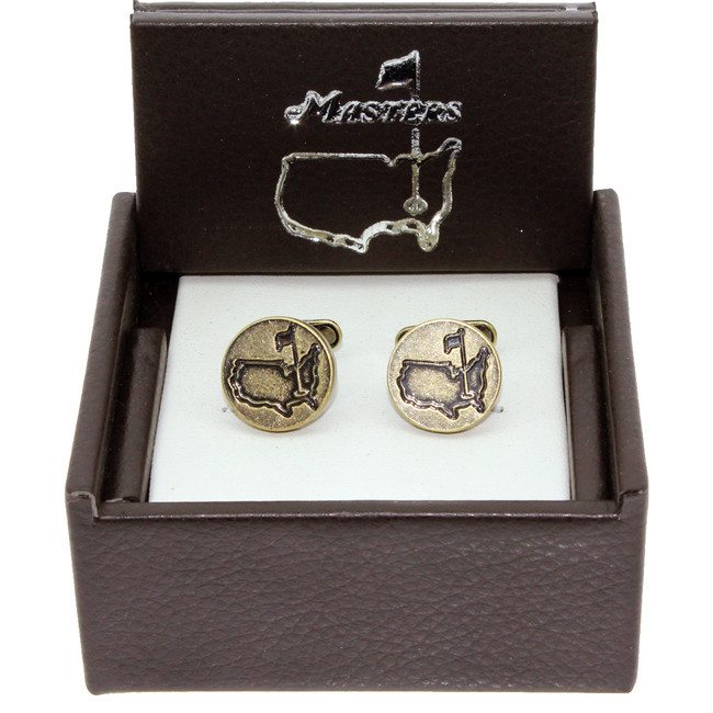 Masters Cuff Links - Antique Brass Circles