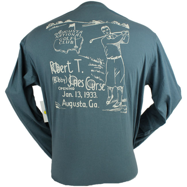 Masters Bobby Jones Blue Long Sleeve Shirt