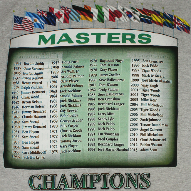 Masters 2014 Dated Grey Champs T-Shirt