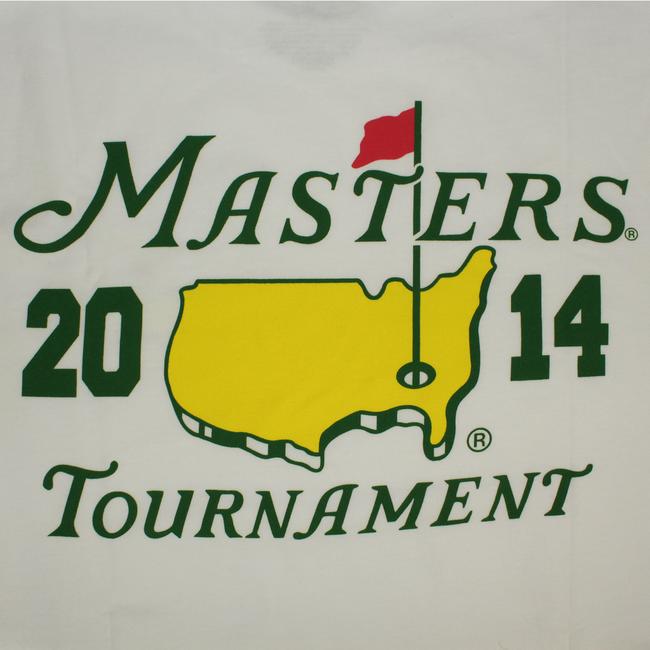 2014 Masters White Small Logo T-Shirt