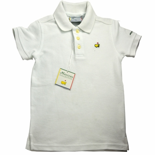 Masters Youth Golf Shirt - White