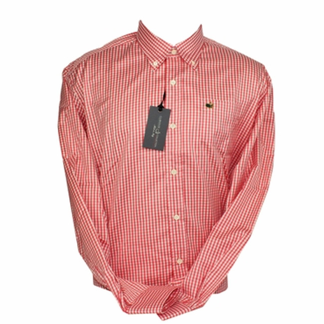 Berckmans Place Clubhouse Gingham Dress Shirt -Coral