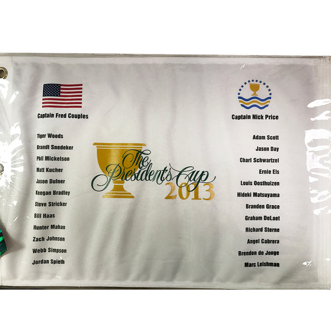 2013 Presidents Cup Past Champions Printed Pin Flag