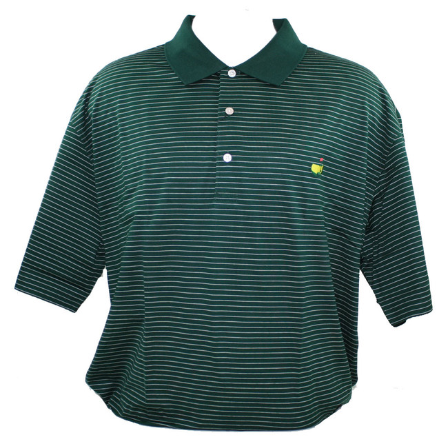 Masters Green with White stripes Jersey Polo