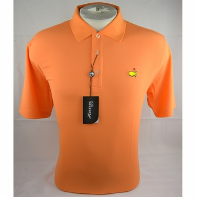 Masters Orange with White and Blue Design Performance Polo
