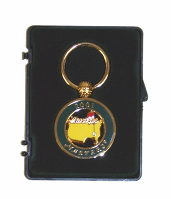 "Masters 2001 ""Tiger Wins"" Dated Key Chain"