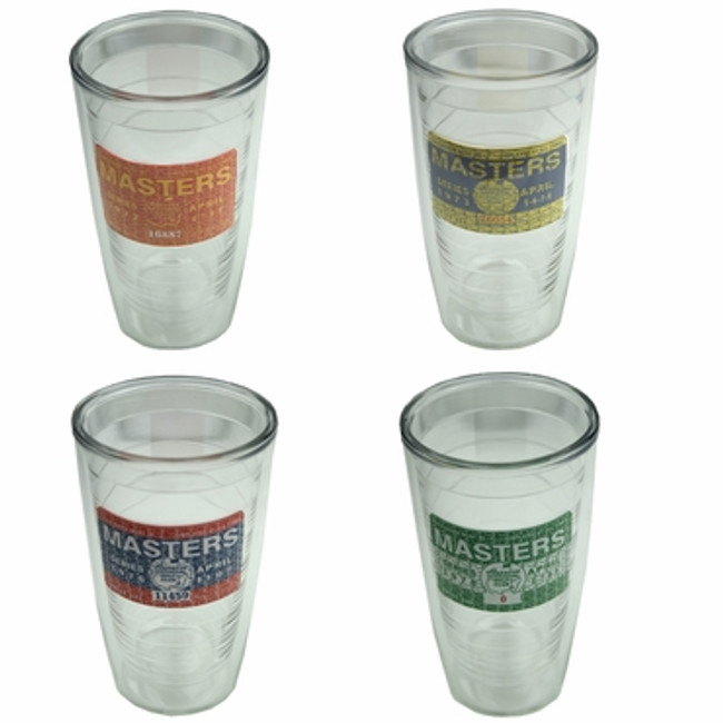 Masters 4 Pack Tervis Tumblers- Badge