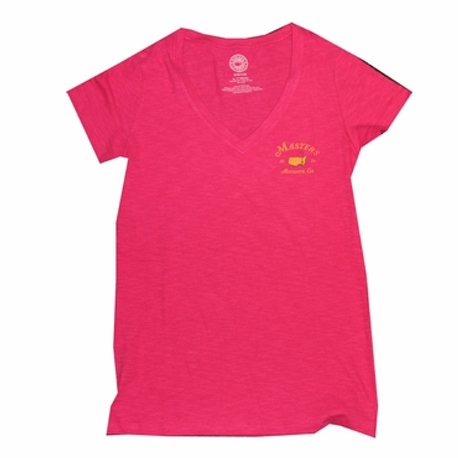 Ladies 2016 Masters V-Neck T-Shirt - Pink