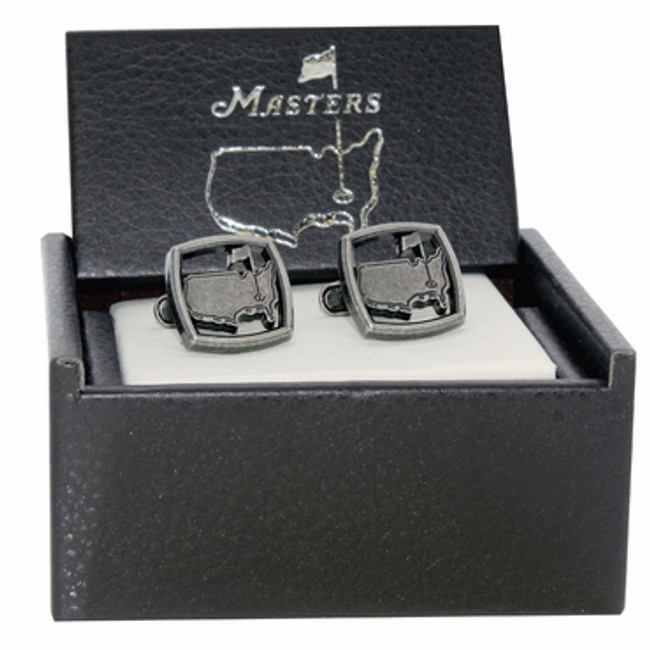 Masters Cuff Links Square Cutout Silver