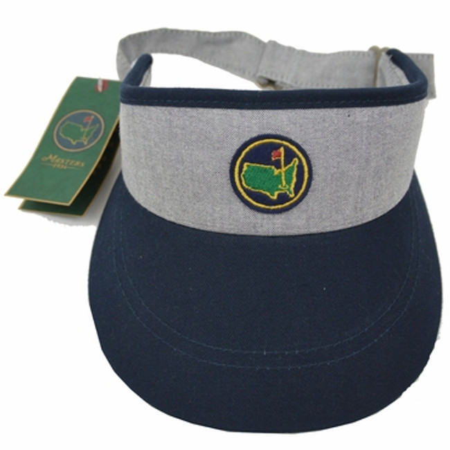 Masters Members Undated Visor Gray & Navy