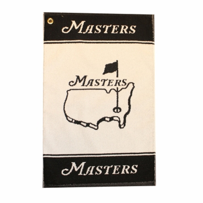 Masters Woven Golf Towel - Black & White