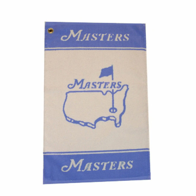 Masters Woven Golf Towel - Blue & White