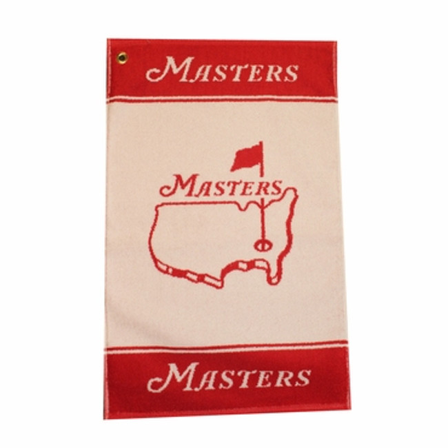 Masters Woven Golf Towel - Red & White