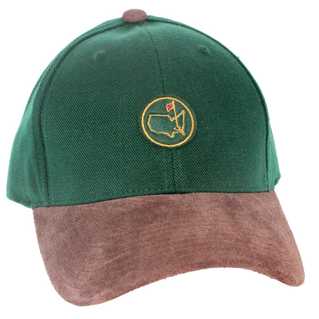 Members Green Brown Wool Suede Patch Hat