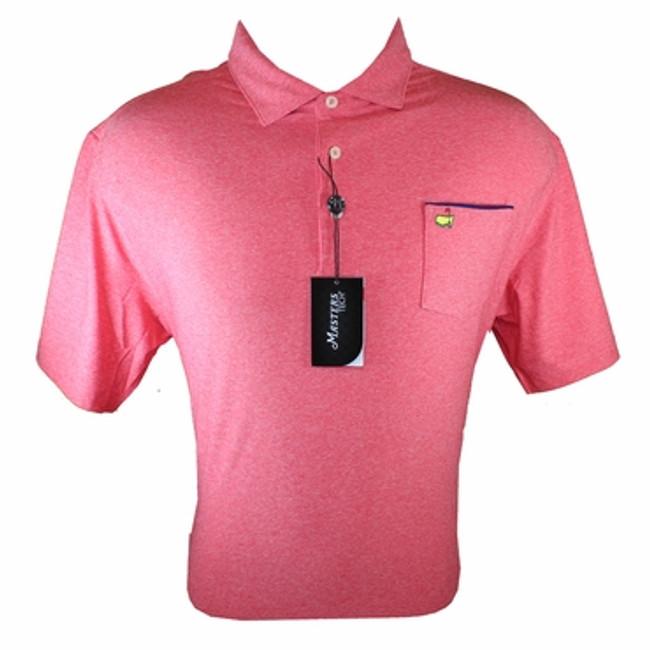 Masters Tech Golf Shirt - Red w/Pocket