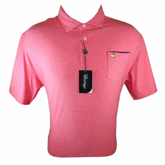 Masters Tech Golf Shirt - Red  With Pocket