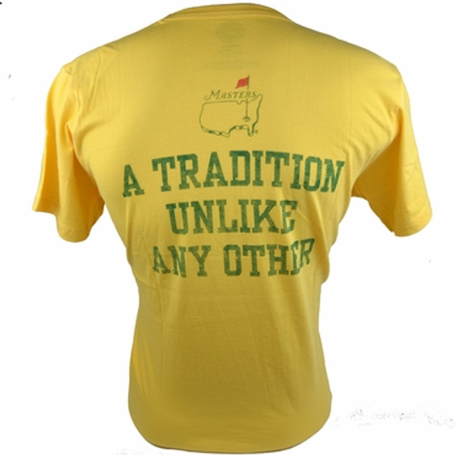 Masters Undated T-Shirt Tradition - Yellow