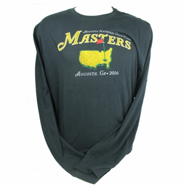 Masters 2016 Vintage Navy Long Sleeve T-Shirt