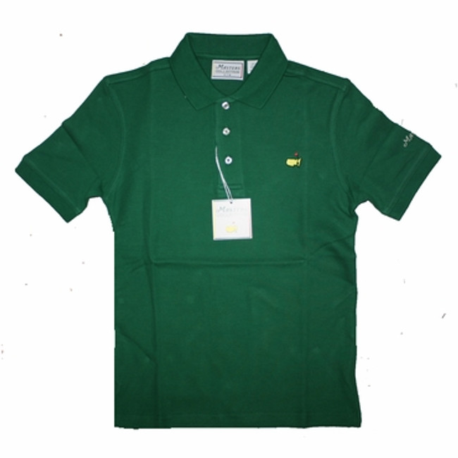 Masters Youth Golf Shirt - Green